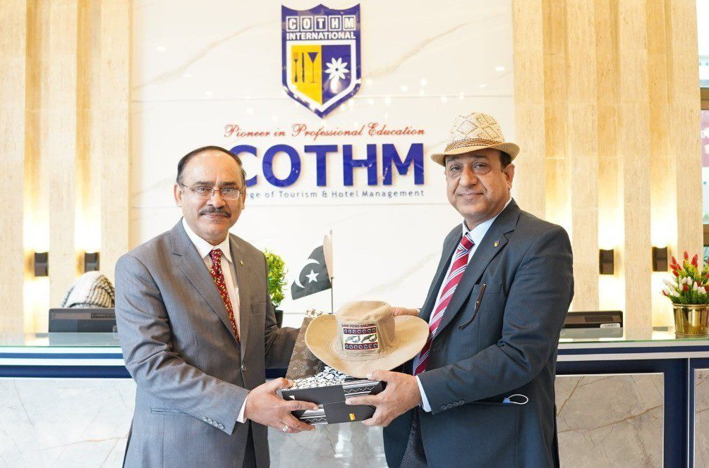STFP President Aftab Rana visits COTHM's flagship campus