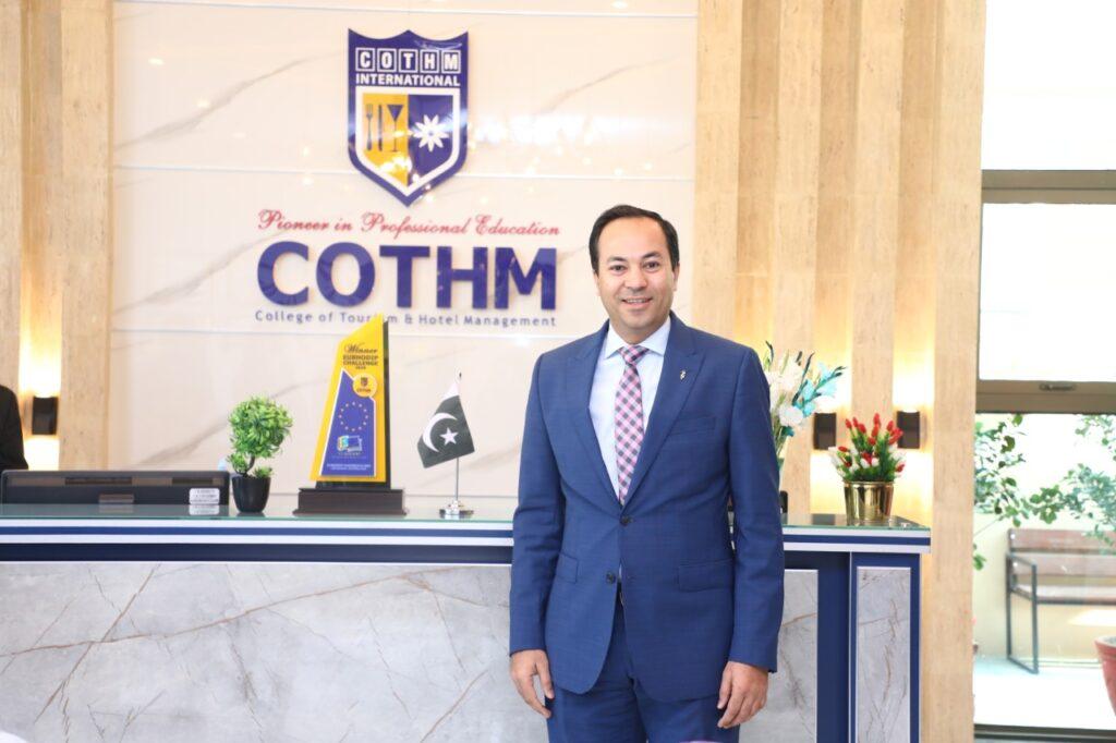 Kashif Rabbani appreciates COTHM's industry-oriented curriculum