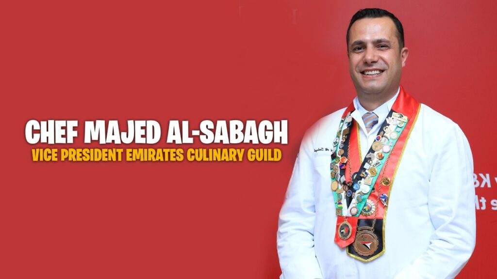 Chef Majed Al Sabagh advises students to be persistent