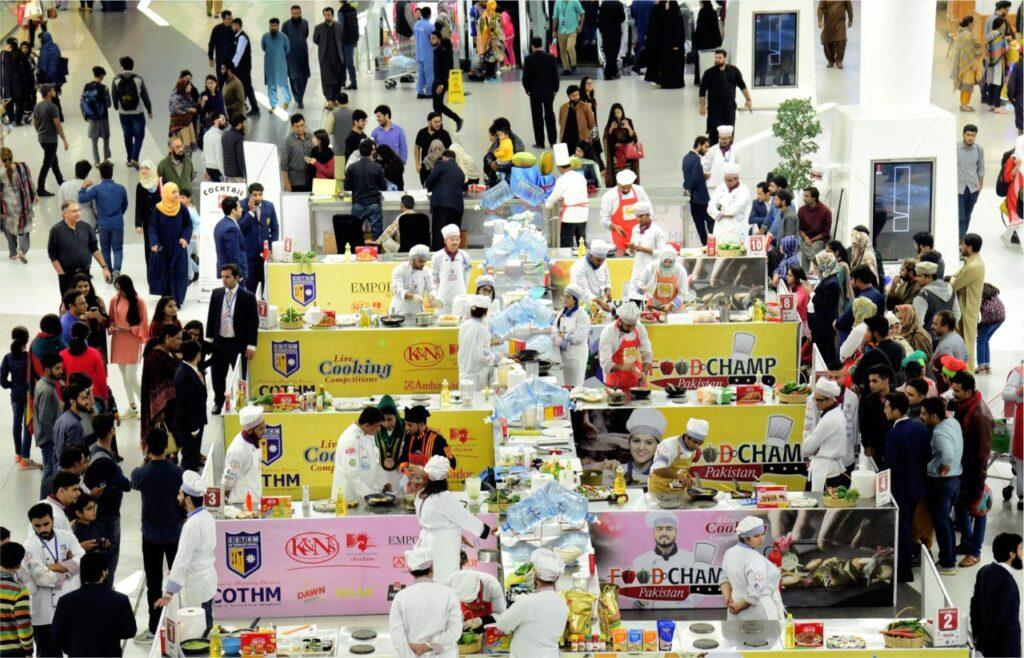 Food ChampCOTHM arranges cooking competitions at Emporium Mall