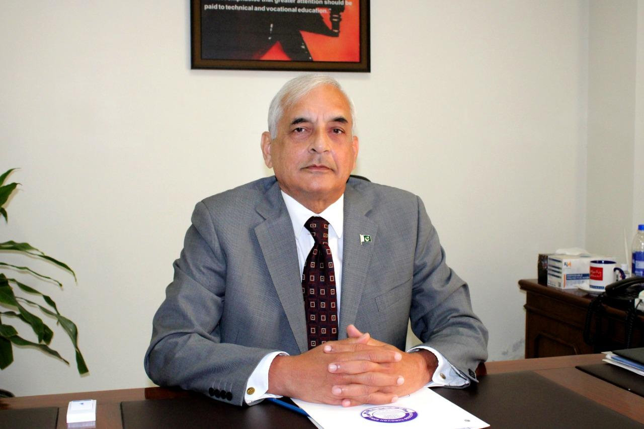 PVTC ChairmanMajor Shahnawaz Badar (R)PVTC is a world class skill imparting organization