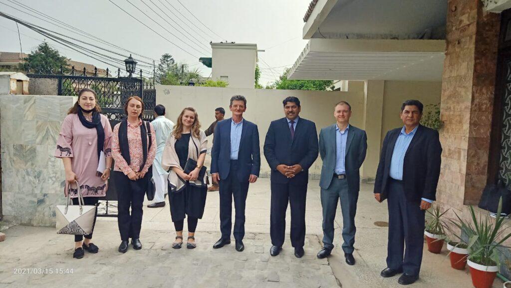 Punjab Tourism Secretary Ehsan Bhutta meets Hungarian Ambassador Bela Fazekas