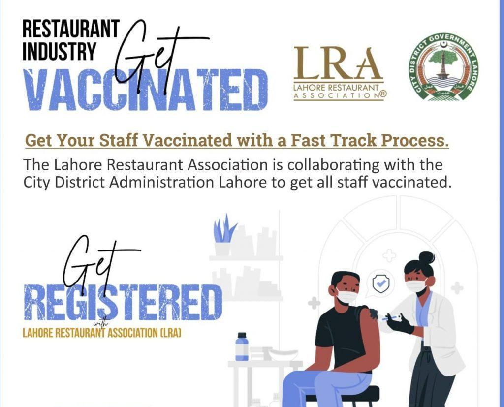 LRA & CDA Lahore collaborate to vaccinate staff at restaurants