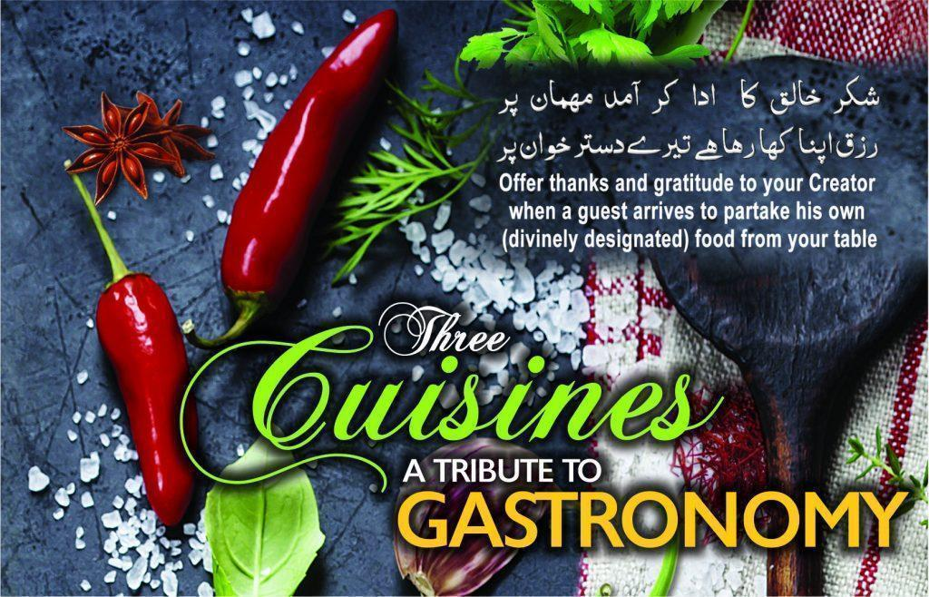 Book ReviewThree Cuisines: A Tribute to Gastronomy