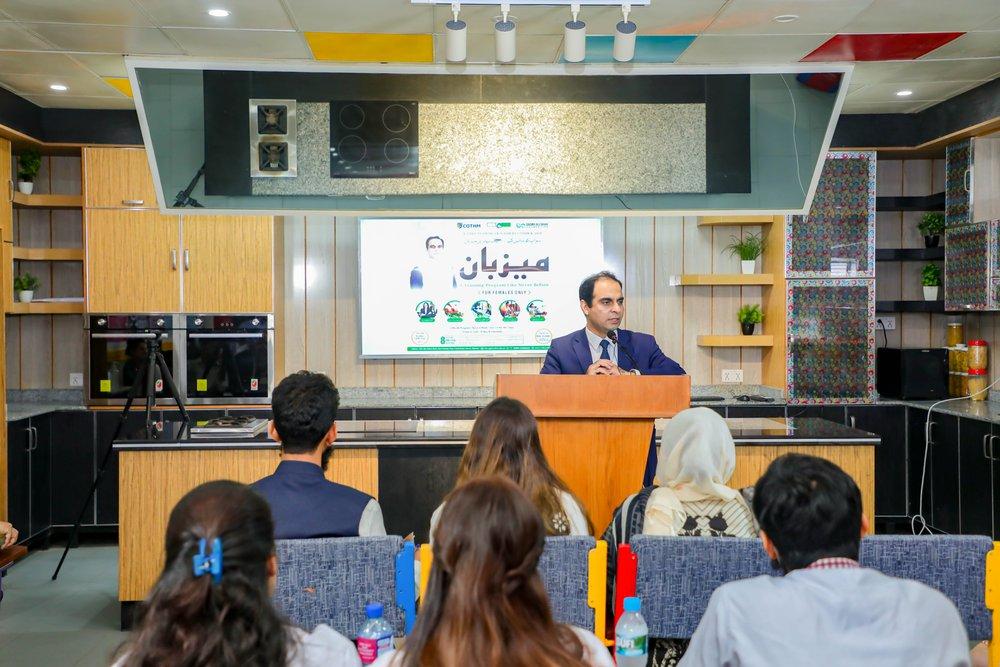 Qasim Ali Shah addresses participants of Mezban Program at COTHM